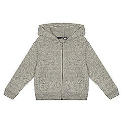 Mantaray - Boys' grey knitted zip through hoodie
