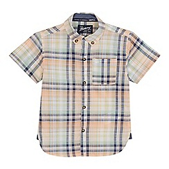 Mantaray - 'Boys' peach checked short sleeve shirt