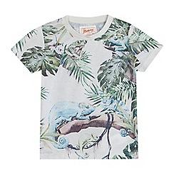 Mantaray - Boys' multicoloured lizard print t-shirt