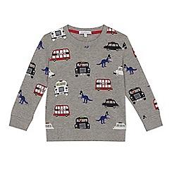 bluezoo - Boys' grey London print sweatshirt