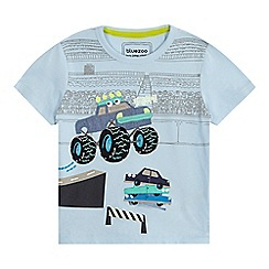 bluezoo - Boys' light blue monster truck applique t-shirt