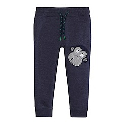 bluezoo - Boys' blue monkey applique jogging bottoms
