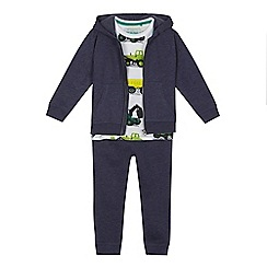 bluezoo - Boys' navy hoodies, digger t-shirt and jogging bottoms set