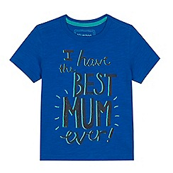 bluezoo - Boys' blue 'Best Mum Ever' slogan t-shirt