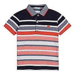 J by Jasper Conran - Boys' multi-coloured birdseye stripe polo shirt