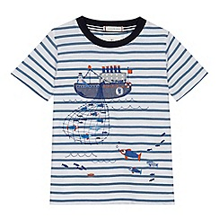 J by Jasper Conran - 'Boys' white boat striped t-shirt