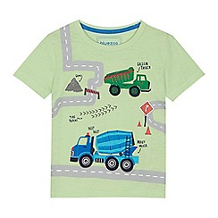 bluezoo - 'Boys' green digger applique t-shirt