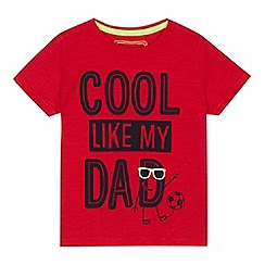 bluezoo - Boys' red 'Cool like my Dad' print t-shirt