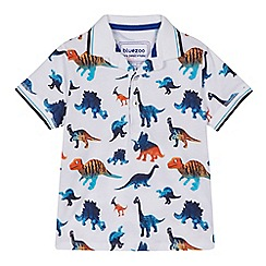 bluezoo - 'Boys' white dinosaur print polo shirt