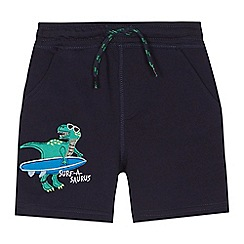 bluezoo - 'Boys' navy dinosaur applique shorts