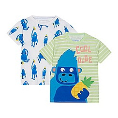 bluezoo - Set of 2 boys' assorted gorilla print t-shirts