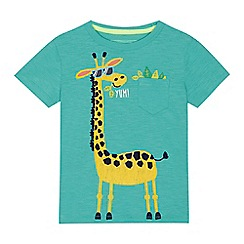 bluezoo - 'Boys' green giraffe print t-shirt