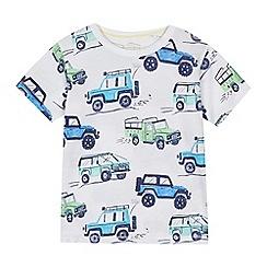 bluezoo - 'Boys' white safari jeep print t-shirt