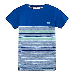 J by Jasper Conran - Boys' blue striped t-shirt