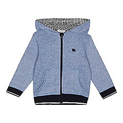 J by Jasper Conran - Boys' light blue zip through hoodie