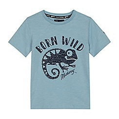 Mantaray - Boys' light blue 'Born Wild' lizard print t-shirt