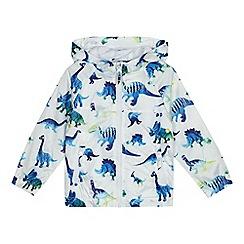 bluezoo - Boys' white dino print shower resistant jacket