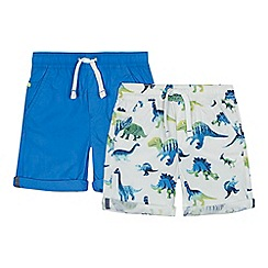 bluezoo - 'Pack of 2 boys' blue printed shorts