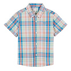 bluezoo - 'Boys' multi-coloured checked short sleeved shirt