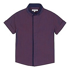 bluezoo - 'Boys' purple tonic short sleeve shirt