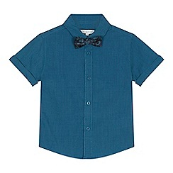 bluezoo - 'Boys' green shirt with a bow tie