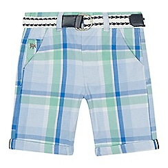 J by Jasper Conran - 'Boys' green checked shorts