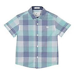 J by Jasper Conran - 'Boys' green checked short sleeve shirt
