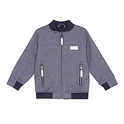 J by Jasper Conran - 'Boys' navy textured striped bomber jacket