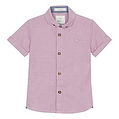 J by Jasper Conran - 'Boys' pink short sleeve Oxford shirt