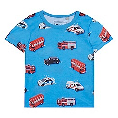 bluezoo - Boys' blue London transport print t-shirt