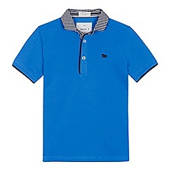 J by Jasper Conran - 'Boys' blue gingham collar polo shirt'