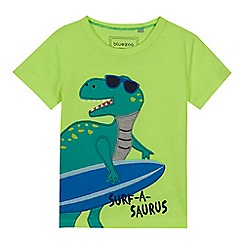 bluezoo - Boys' lime 'Surf-a-saurus' applique t-shirt