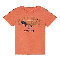 Mantaray - 'Boys' orange cork effect logo t-shirt