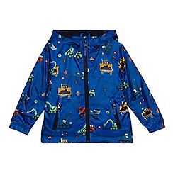bluezoo - 'Boys' navy transport print shower resistant jacket