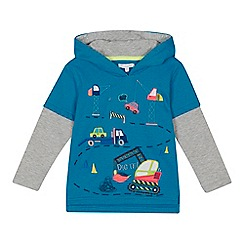 bluezoo - Boys' navy digger applique sweater
