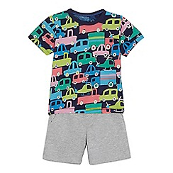 bluezoo - Boys' multi-coloured truck print top and shorts set