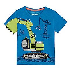 bluezoo - 'Boys' blue digger applique t-shirt