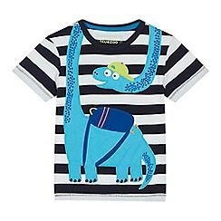 bluezoo - 'Boys' blue dinosaur applique t-shirt