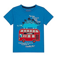 bluezoo - 'Boys' blue London bus applique t-shirt