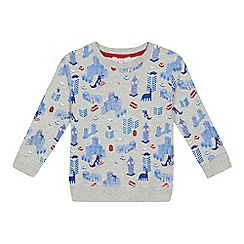bluezoo - Boys' grey London print sweater