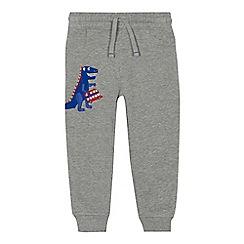 bluezoo - Boys' grey London applique jogging bottoms