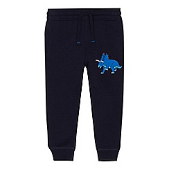 bluezoo - 'Boys' navy dinosaur applique jogging bottoms