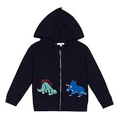 bluezoo - 'Boys' navy dinosaur applique hoodie