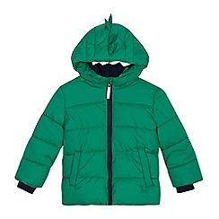 bluezoo - Kids' green dinosaur padded jacket