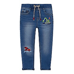 bluezoo - Boys' blue embroidered transport slim fit jeans