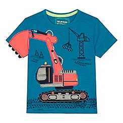 bluezoo - 'Boys' blue tractor applique t-shirt
