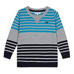 bluezoo - Boys' grey striped jumper
