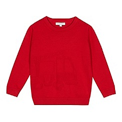 bluezoo - Boys' red fire engine knit jumper