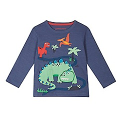 bluezoo - Boys' blue dino applique top