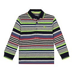 bluezoo - Boys' multicoloured striped long sleeve polo shirt